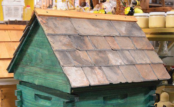 Repurposed Slate Roof Hive Top