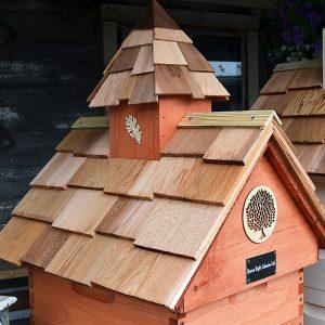 Cedar Shake Barn Roof Hive Top