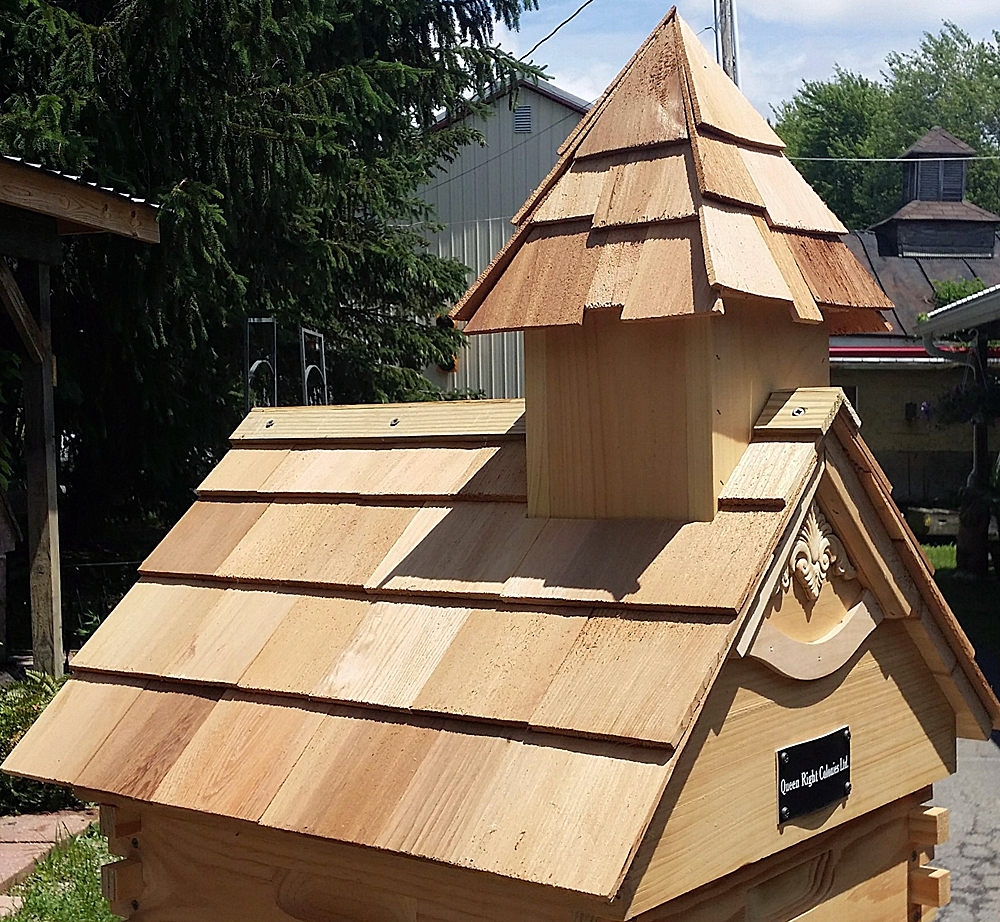 Church Cedar Shake Shingle Pitched Roof Hive Top Queen