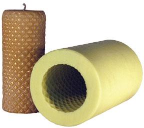 Diamond Cylinder Candle Flex Mold