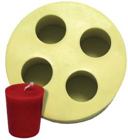 Flat Top Votive Candle Flex Mold