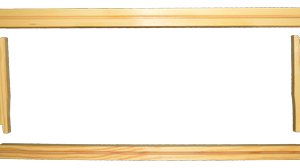 5-3/8 Shallow Wooden Frame