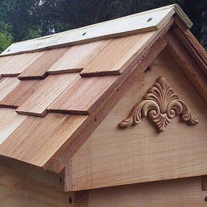 Cedar Shake Shingle Pitched Roof Nuc Hive Top