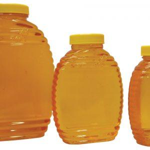 Embossed Bee Plastic Jar with Lid