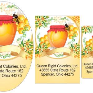 Custom Printed Honey Labels
