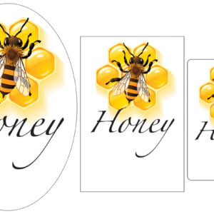 Bee on Honeycomb Label