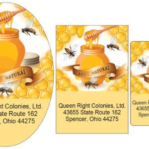 Bees Honey Pot and Dipper Label