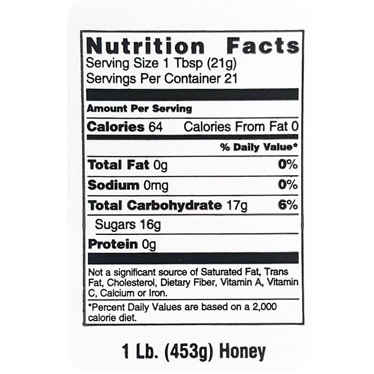 Nutritional Honey Label Queen Right Colonies