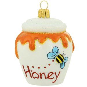 White Honey Pot Ornament