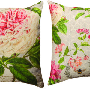 Skep with Flowers Pillow