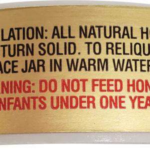 Granulation Notice Honey Label